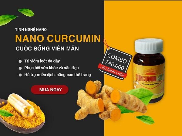 Nano Curcumin - Hỗ trợ điều trị viêm loét dạ dày