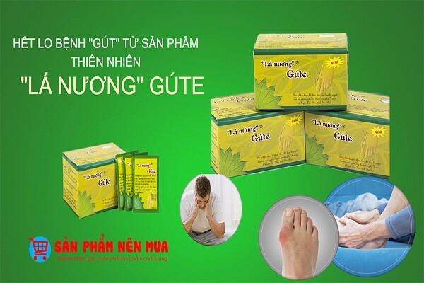Sản phẩm Lá nương đem đến hiệu quả trong việc điều trị gout