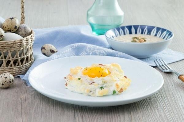 Món bánh trứng vô cùng ngon miệng, lạ mắt.