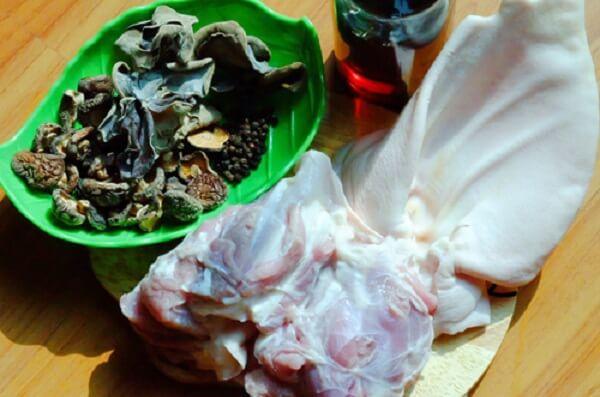 Các nguyên liệu nấu thịt đông chân giò