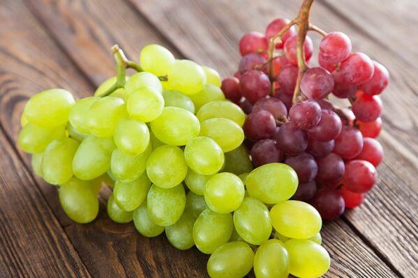 Trái nho là một trong những loại trái cây có khả năng chống oxy hóa cao nhất