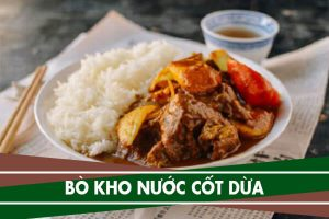 Cách nấu món bò kho nước cốt dừa với cà rốt nhanh mềm cực ngon