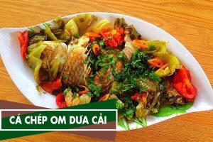 Cách nấu cá chép om dưa cải chua thịt ba chỉ ngon không bị tanh