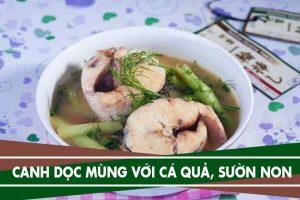 2 cách nấu canh dọc mùng với cá quả, sườn non ăn không bị ngứa