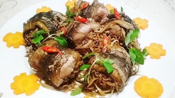 Cách làm món lươn nấu hoa chuối