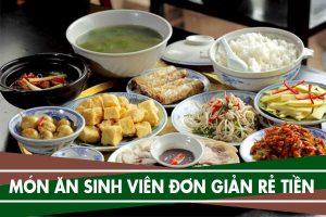 12 món ăn sinh viên, Món ngon đơn giản rẻ tiền dễ làm cho sinh viên