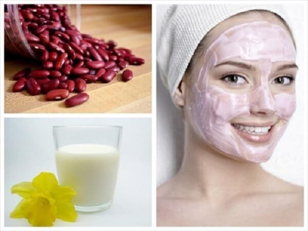 Cách đắp mặt nạ đậu đỏ sữa tươi - mat na dau do