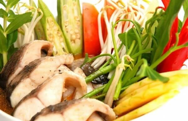 Nguyên liệu cho canh cá lóc nấu chua