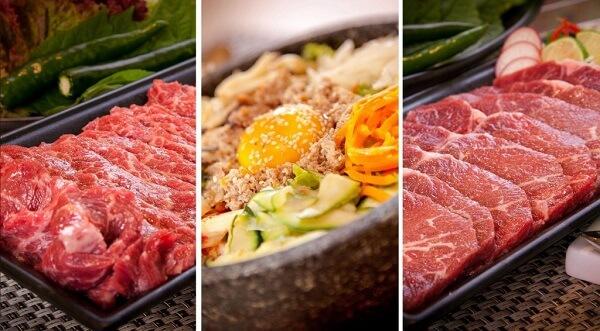 Mâm cơm Việt khuyên các bạn khi đến King BBQ, nhất định phải thử món thịt bò Mỹ.