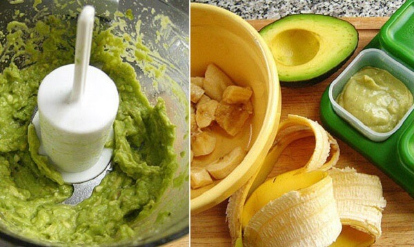Bơ và chuối là 2 loại trái cây hiếm hoi mẹ không cần phải nấu trước khi cho bé ăn
