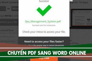 Cách chuyển file pdf sang word không bị lỗi font, chuyển Online