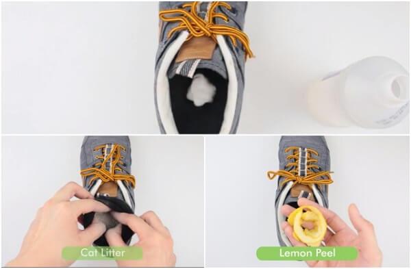 Dùng vỏ chanh, bưởi, cam hoặc quýt để khủ mùi hôi của giày.