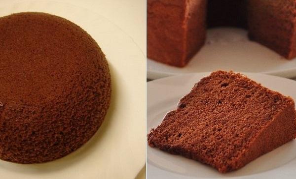 Cách làm bánh bông lan socola bằng nồi cơm điện không cần lò nướng