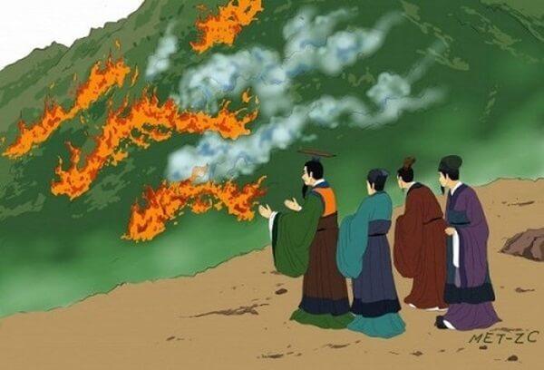 Tấn Văn Công ra lệnh đốt rừng (muốn thúc ép Tử Thôi quay về).