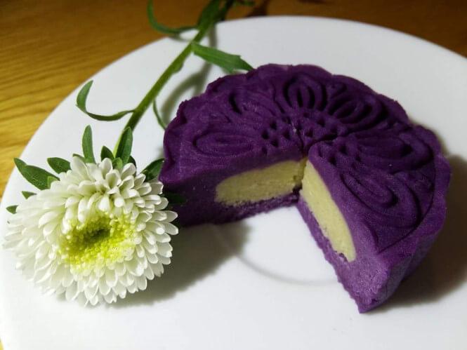 Bánh trung thu khoai lang tím - cách làm bánh trung thu khoai lang tím