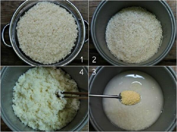 Từng bước vo và nấu cơm nếp