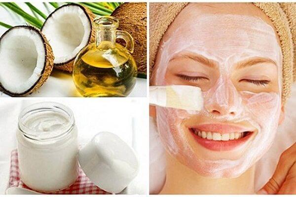 Cách làm đẹp da mặt từ dầu dừa với sữa chua dưỡng da trắng hồng tự nhiên.