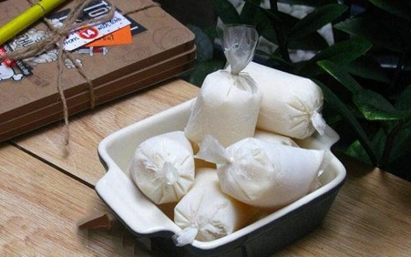 Kem sữa chua túi - cách làm kem sữa chua