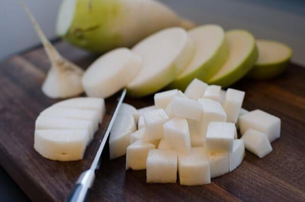 Thái củ cải – cách làm củ cải muối – truyen kim chi cu cai