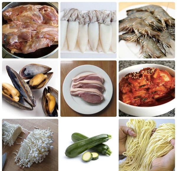 Cách làm mì cay Hàn Quốc kim chi hải sản cực ngon - mi cay han quoc