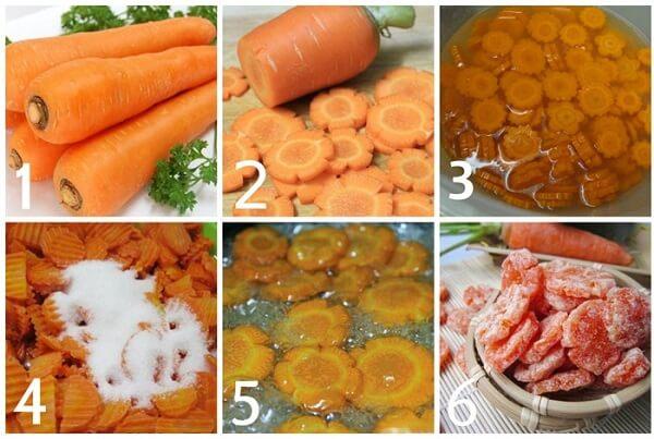 Cách làm mứt cà rốt giòn, dẻo mà lại cực nhanh - cach lam mut ca rot