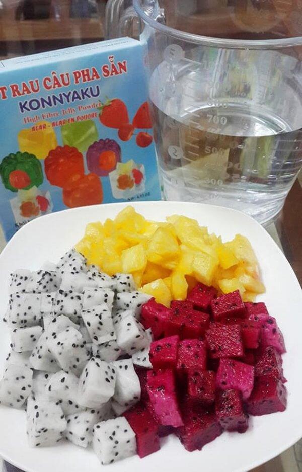 Các loại hoa quả làm thạch - cách làm thạch trái cây