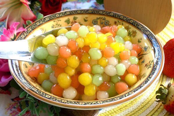 Cách làm trân châu nhiều màu đơn giản