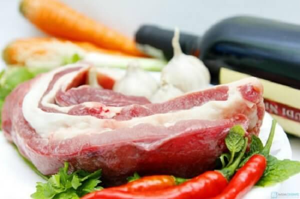 Nguyên liệu nấu bò kho cho khẩu phần 6 người