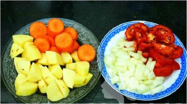 Sơ chế phần rau củ