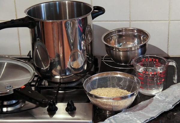 Nấu trực tiếp với nước