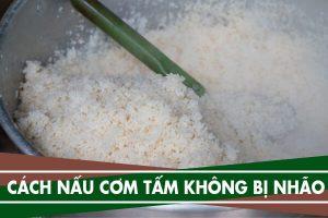 Cách nấu cơm tấm bằng nồi cơm điện ngon không bị nhão