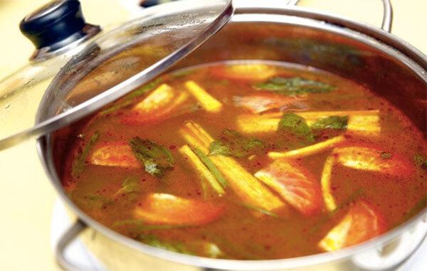 Nước dùng lẩu cá diêu hồng – cách nấu lẩu cá diêu hồng