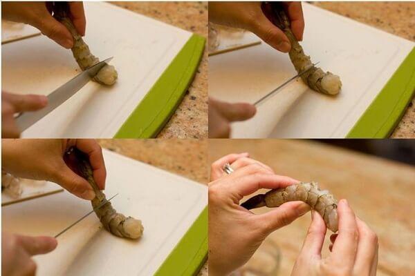Làm sạch tôm - cách nấu lẩu hải sản ngon