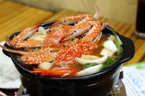 Cách nấu lẩu Thái Ghẹ