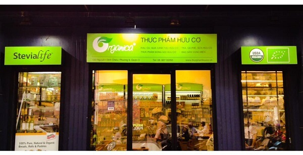 Cửa hàng rau sạch ORGANICA