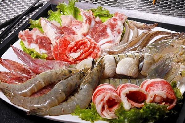 Các loại thịt và hải sản