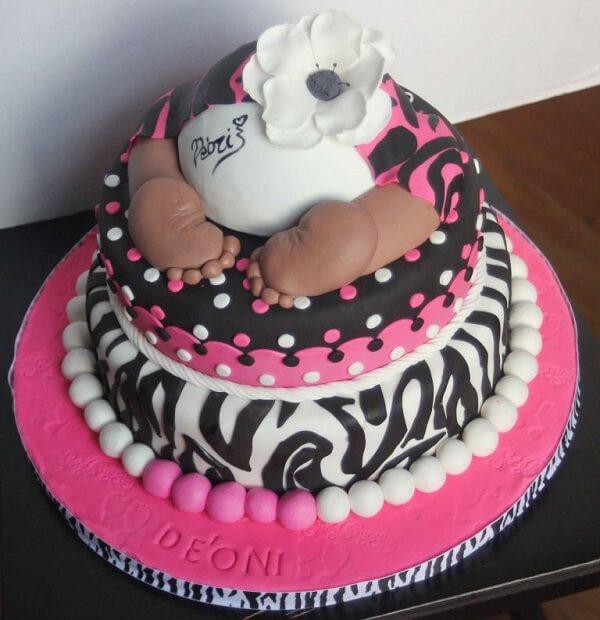 Bánh sinh nhật có hình mông em bé
