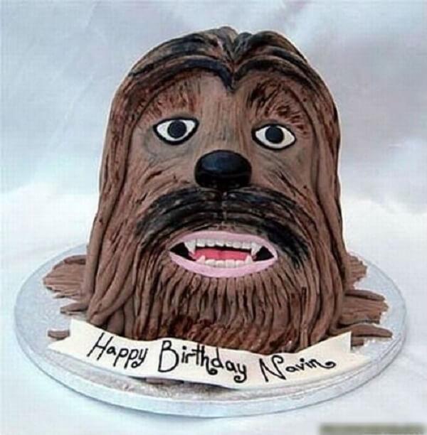 Bánh sinh nhật mang hình người rừng hoang dã