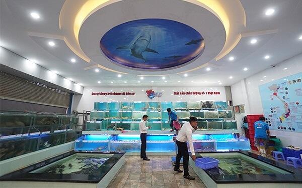 Khu vực dành riêng cho siêu thị hải sản