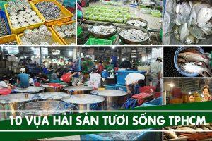 Hải sản tươi sống Tphcm - Vựa, chợ đầu mối bán hải sản tươi Tphcm