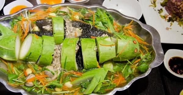 Cá lóc hấp bầu ngon ngọt thanh mát cho bữa cơm gia đình