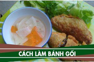 Cách làm bánh gối Nam Định, bánh gối nhân rau củ chay đơn giản