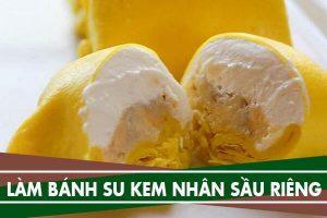 Cách làm bánh su kem nhân sầu riêng bằng sữa tươi không đường