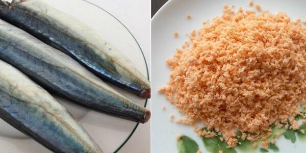 Cách làm chà bông cá nục 1