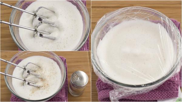 Ủ kem và đánh kem – cách làm kem tươi đơn giản