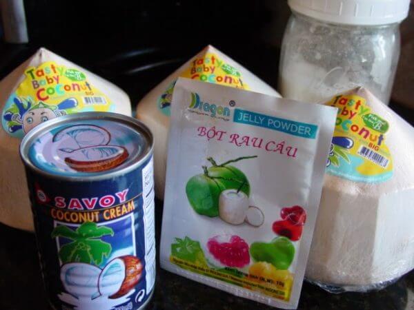 Bột rau câu, nước cốt dừa – cách làm thạch 3d đơn giản