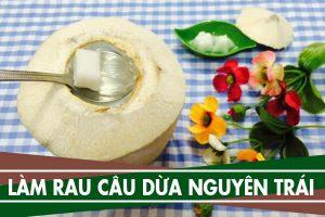 Cách làm thạch dừa, rau câu dừa nguyên trái đơn giản nhất