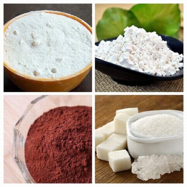 Trộn các loại bột trên thành hỗn hợp