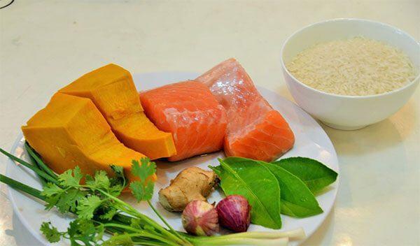 Nguyên liệu để nấu cháo cá hồi cho bé – Cách nấu cháo ngon