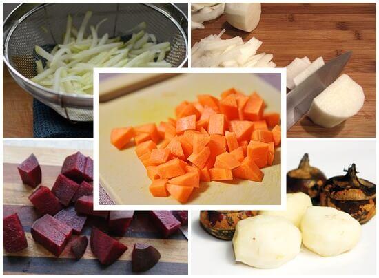 Sơ chế những loại rau và củ